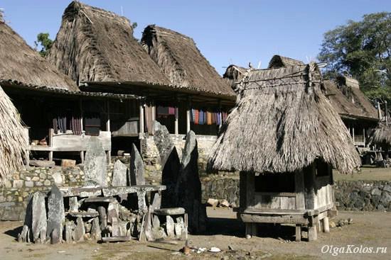 Традиционная деревня нгада рядом с Баджавой