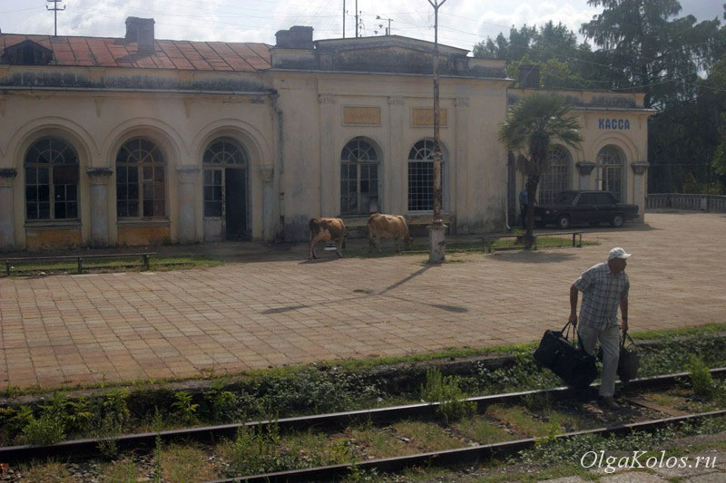 Железнодорожный вокзал в Гудауте