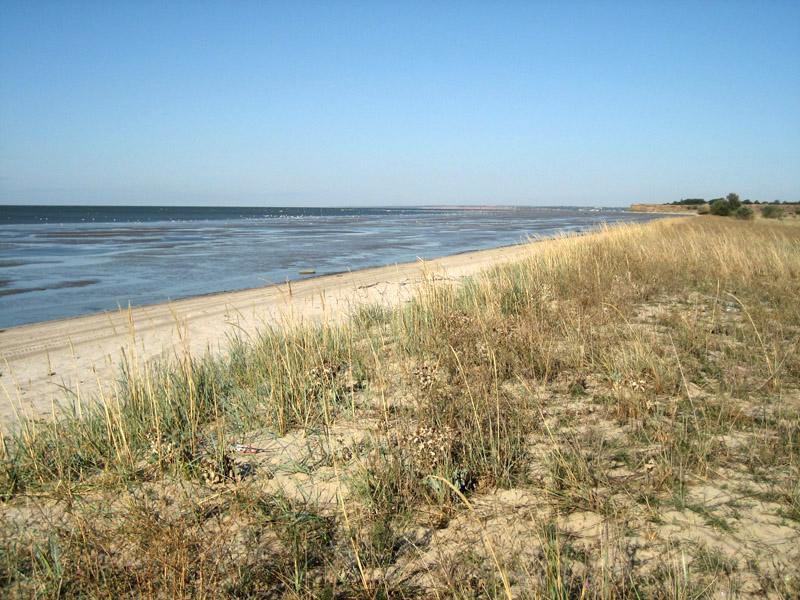 Беглицкая коса, Азовское море