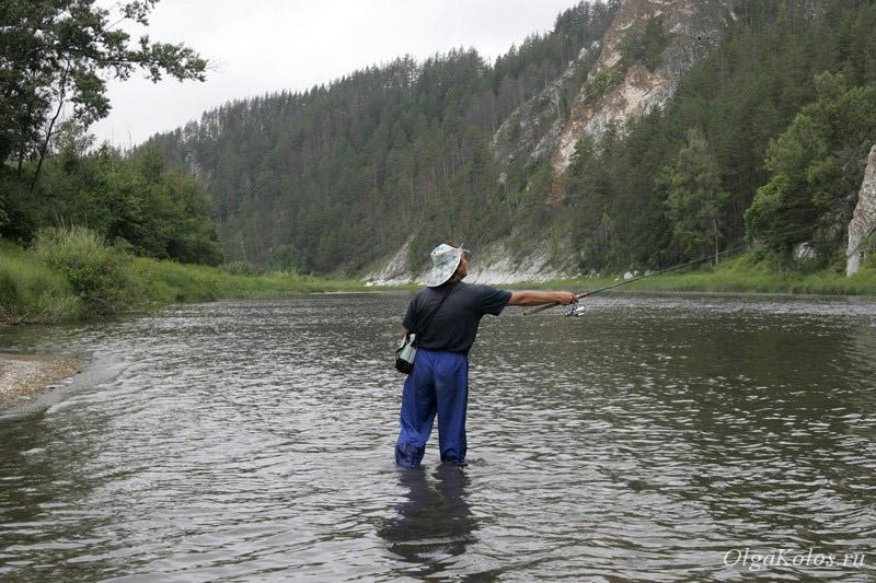 Рыбалка на реке Белой, Башкирия, Южный Урал
