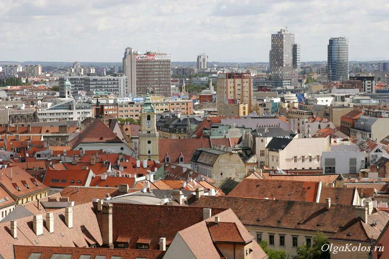 Вид на Старый город в Братиславе