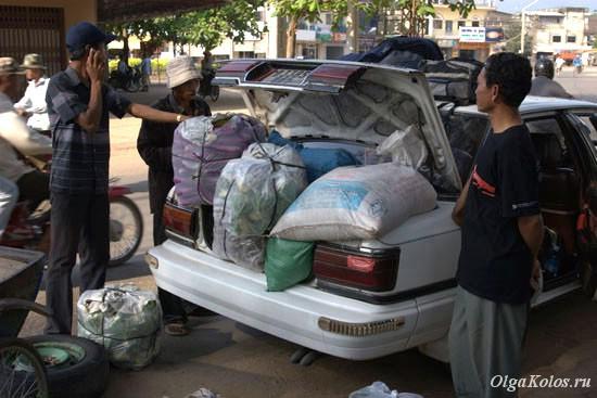 8-местное грузовое авто из Кампота в Сиануквиль