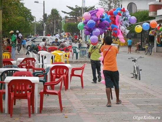 Курортный городок Толу на побережье Карибского моря