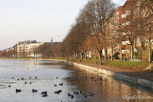 Озера в центре Копенгагена