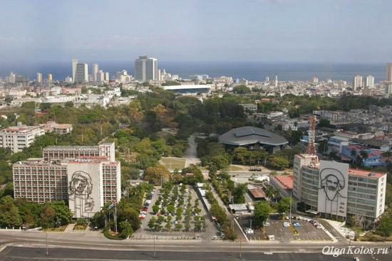 Вид на Гавану с монумента Хосе Марти