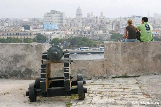 Вид на центр Гаваны со стен крепости