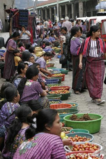 Рынок в Сантьяго де Атитлан