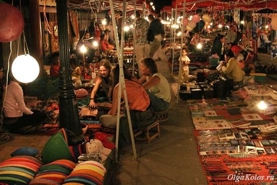 Сувенирный рынок в Луанг Прабанге