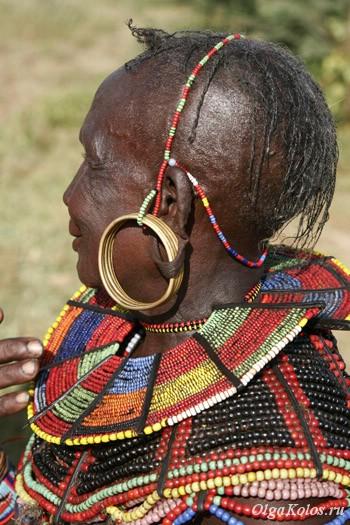 Бабушка из племени покот рядом с озером Баринго