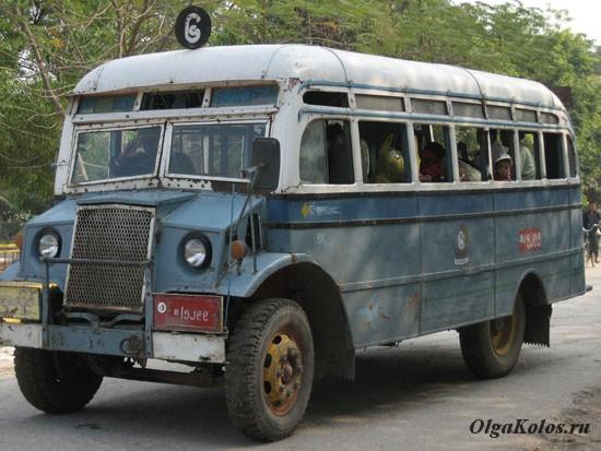 Городские автобусы в Мьянме
