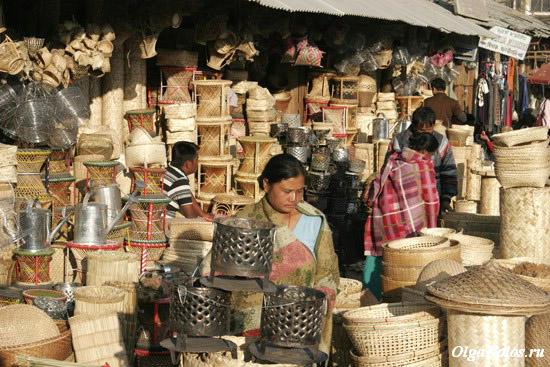 Рынок в Импхале, штат Манипур