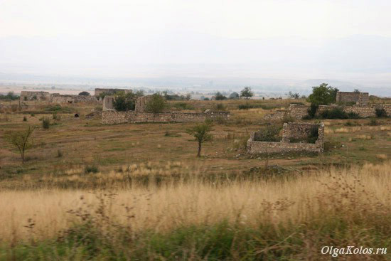 Разрушенный город Агдам