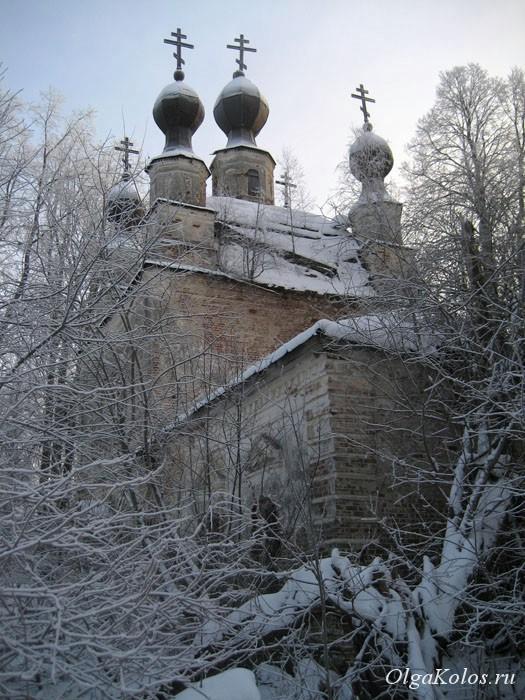 Церковь в деревне Вознесенское рядом с Галичем, Костромская область