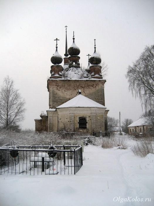 Церковь в Унороже, Костромская область
