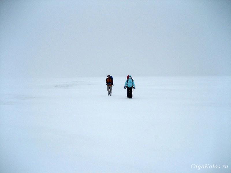 По льду Галичского озера