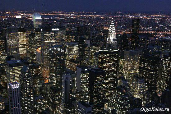 Вид со смотровой площадки Empire State Building
