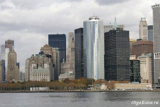 Вид на Манхэттен с парома